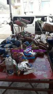 ضبط 380 كرتونة مواد غذائية وطن ألبان غير صالحة للإستخدام الأدمى،