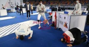 وزير الرياضة يهنيء شباب منتخب السلاح لحصولهم علي الميدالية الذهبية | الرياضة