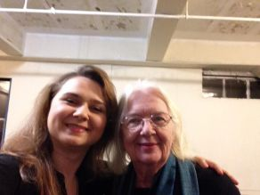 With Carol Sills in the old New Actors Workshop space; Studio C - which she and Paul Sills has built the walls for.