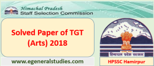 Solved Paper TGT Arts 2018-HPSSC Hamirpur-lll
