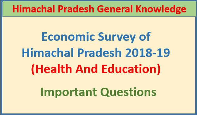 Economic Survey of HP 2018-19 (Health And Education)