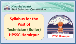 Syllabus for the post of Technician (Boiler) HP Milk Fed. Ltd. -HPSSC Hamirpur
