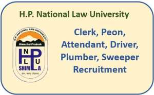 HP Law University Recruitment 2021 : Apply Now