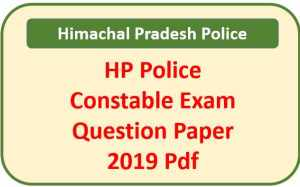 HP Police Constable Question Paper 2019 Pdf Download