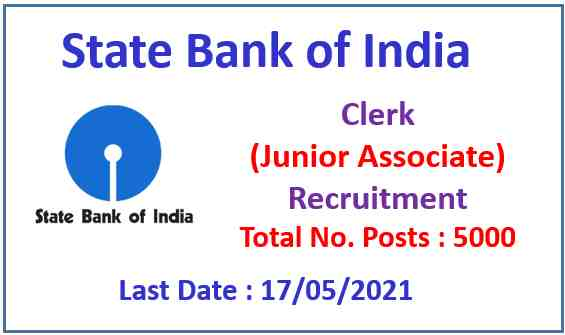 SBI Clerk Recruitment 2021 : Apply Now