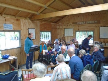 Service in the Cider Shed