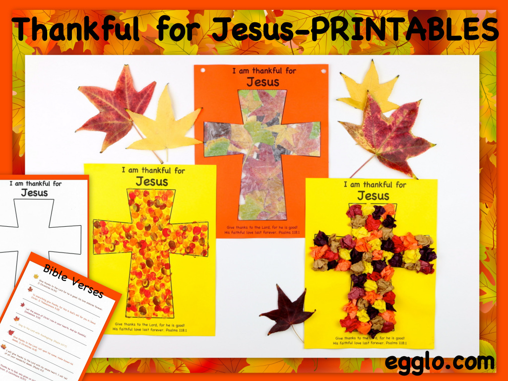 Thanksgiving Craft Thankful For Jesus