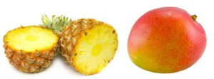 fruits avec blanc d'oeuf
