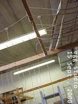 上手業主搭建的木樑,用途不明。