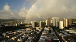 Hawaiian double rainbow