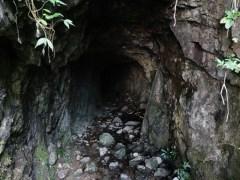 此洞深約五米,五米後有左右兩路,各一米半深。