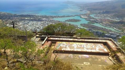 山頂的廢棄碉堡。