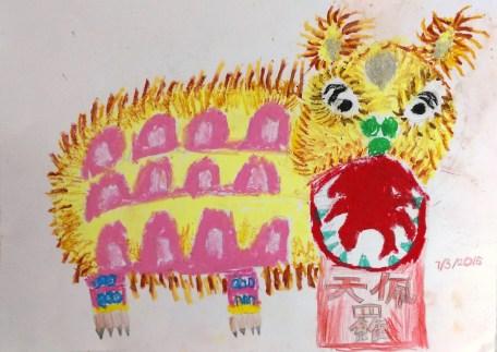 新年年畫 -- 獅頭