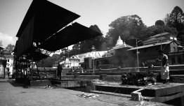 火葬場 Pashupatinath。