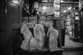 茶葉店外的鹽。