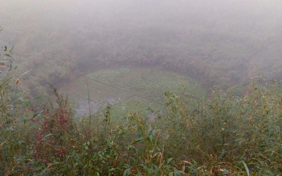 又凍又濕又大雨下的「神秘圓形」。