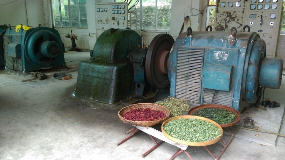 湖洞村的水力發電站 -- 以機器的熱力烘焙農作物。