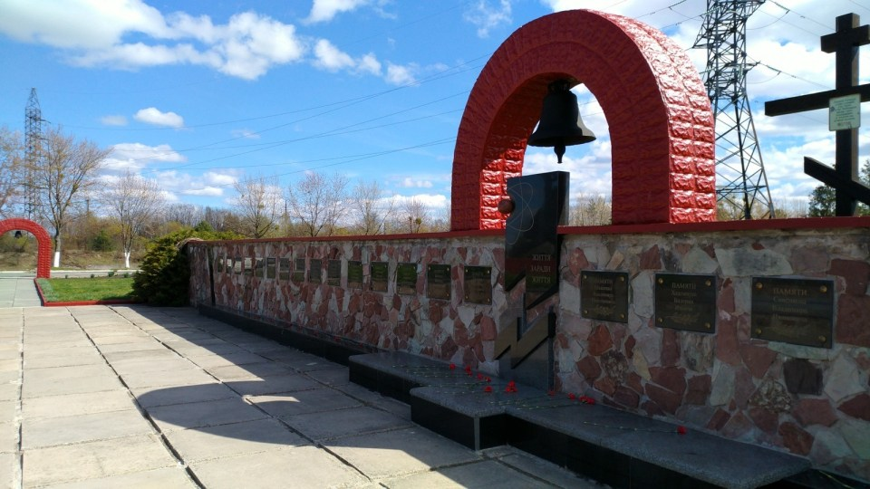 紀念救災犧牲消防員的紀念碑。