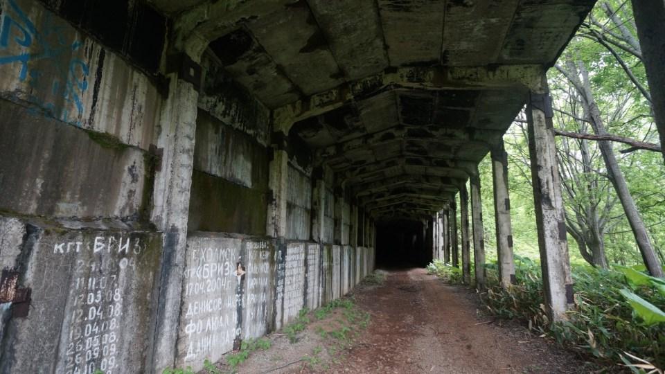 隧道口棚洞。
