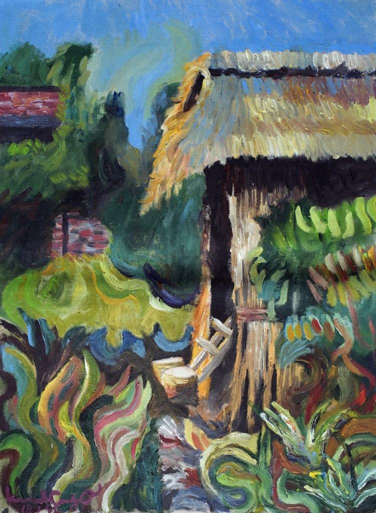 《廣東省小虎寫生》塑膠彩 60cm x 45cm 1993