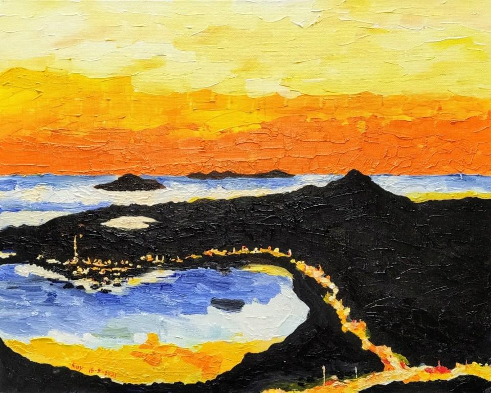 《布袋澳之暮》油彩 50cm x 40cm 15-5-2021