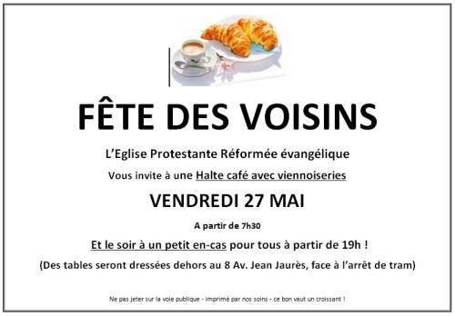 Fête des Voisins le 27 Mai 2016