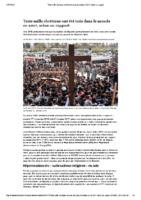 Trois mille chrétiens ont été tués dans le monde en2017, selon un rapport