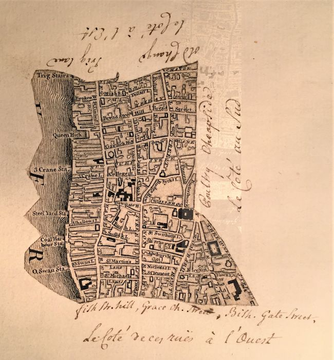 © FCPL, Boundaries of the districts of the church, c. 1765, La Ville district