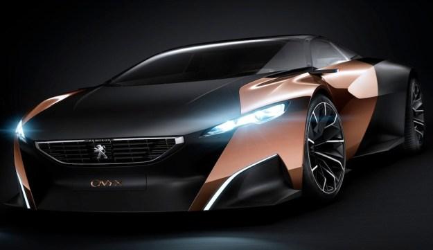Peugeot Onyx Concept shows itself before Paris debut