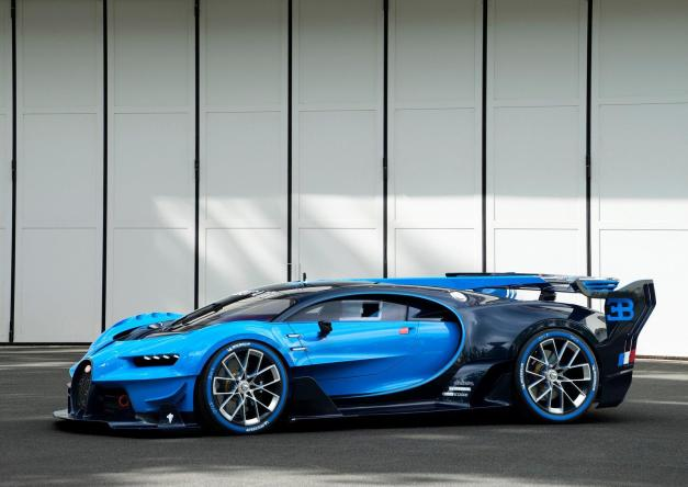 2015 Frankfurt – IAA: The first-ever official photos of the Bugatti Vision Gran Turismo Concept in real life surface