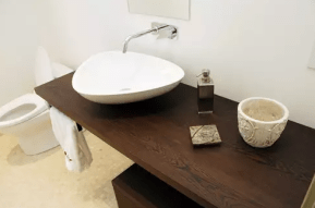 wooden bathroom top