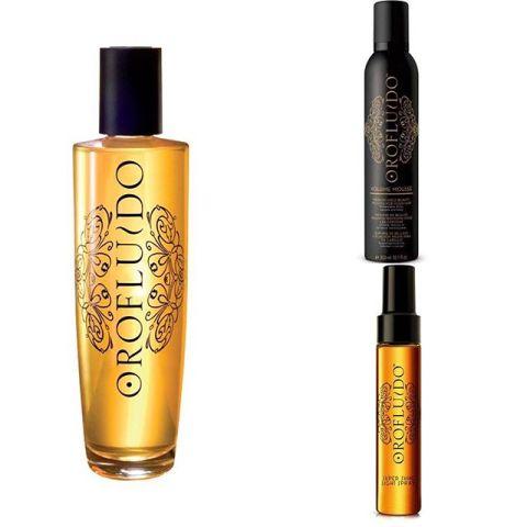 Super deal! Köp en Orofluido olja och få en Volume mousse eller Super shine light spray på köpet!