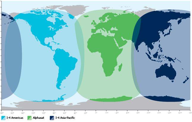 Cobertura mundial de Outernet