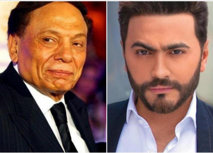 هل يجتمع تامر حسني مع عادل إمام في فيلم سينمائي؟