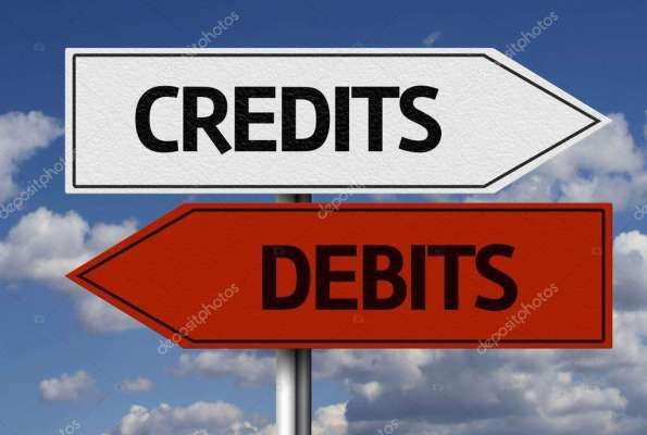 depositphotos_62885607-stock-photo-credits-debits-creative-sign-595x400 Title category