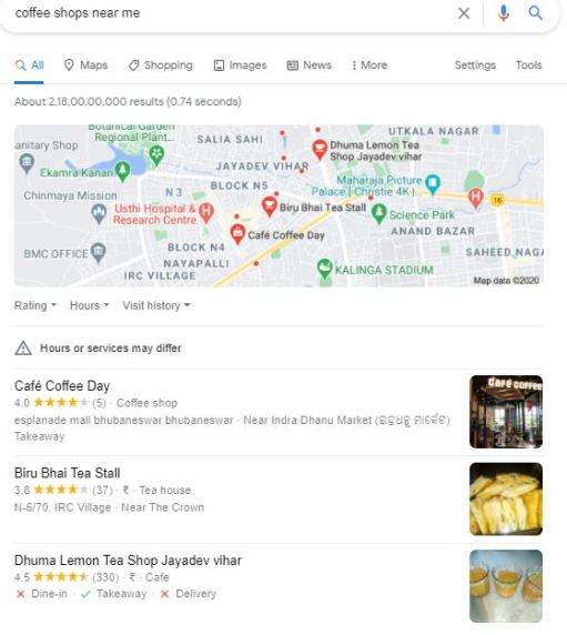 Image of Local Search in Google