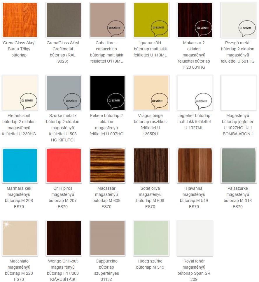 magasfényű bútorlap színek 2.