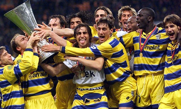 Parma Players Celebrating 1999 UEFA Cup – Reuters