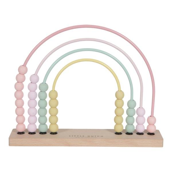 abaco arco-iris rosa