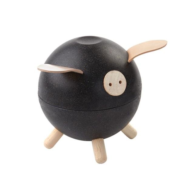 porquinho mealheiro preto