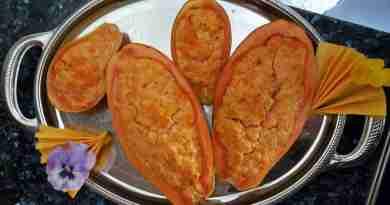 ricetta papaya e gamberettti