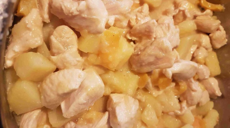 pollo patate peperoni al curry
