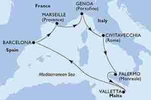 crociera mediterraneo gennaio 2019