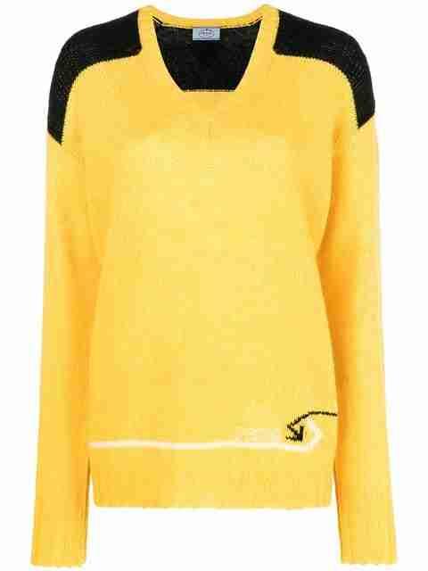 Maglione giallo Prada