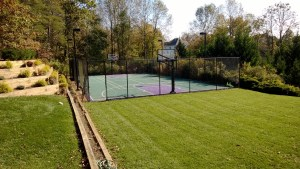 SportCourt in backyard