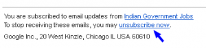Unsubscribe from unwanted email