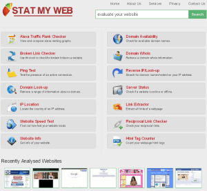 Online Website Analysis and Tools