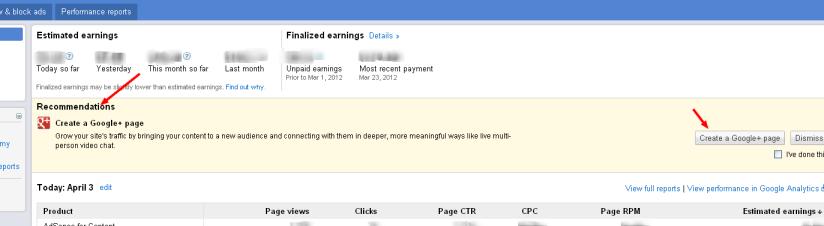 Google AdSense Recommendation To Publishers