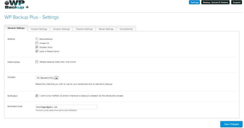 WP Backup Plus - Full Automated WordPress Backup