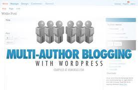 Multi Author WordPress Blogging